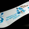 Reklama Malibu w ksztłcie snowboard'u - nadruk sitowy na plexi